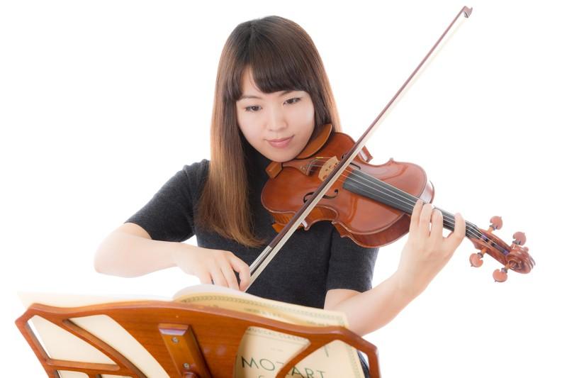 バイオリン練習中