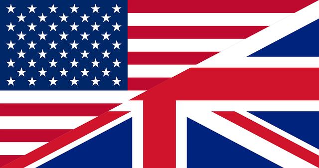 アメリカとイギリスの国旗