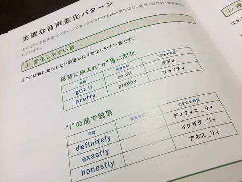 変化しやすい英語の音