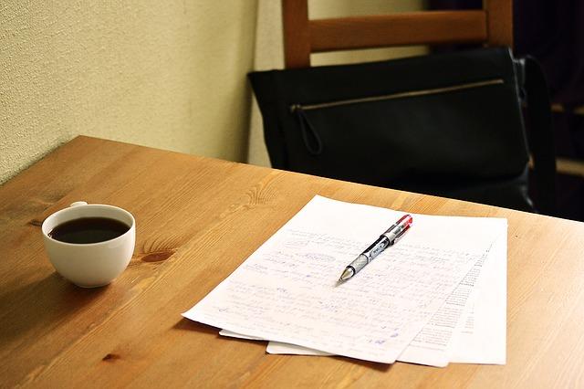 文章とコーヒー