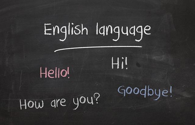 英語と黒板