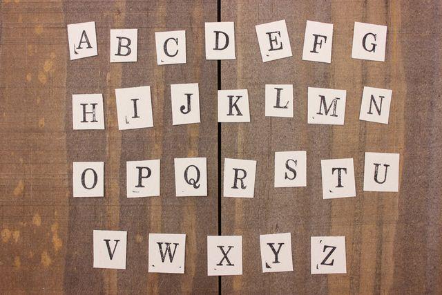 アルファベット一覧